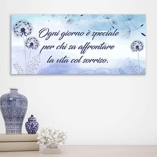 Quadro con frase personalizzata su tela, decorazione da parete