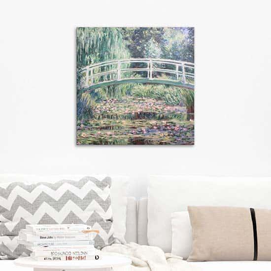 Quadro famoso Ninfee di Monet, riproduzione
