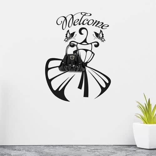Adesivi murali appendiabiti fashion, decorazioni