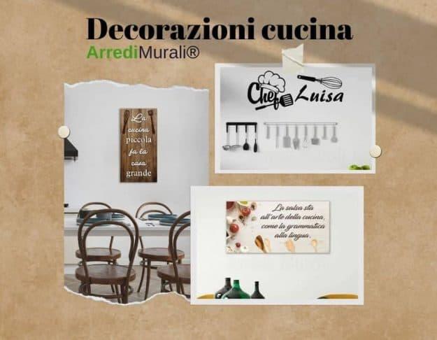 decorazioni cucina idee per arredare le pareti