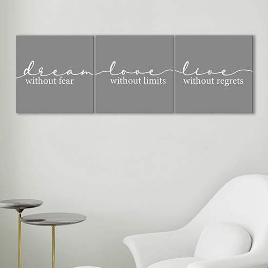 Quadri con frasi su tela, decorazioni da parete