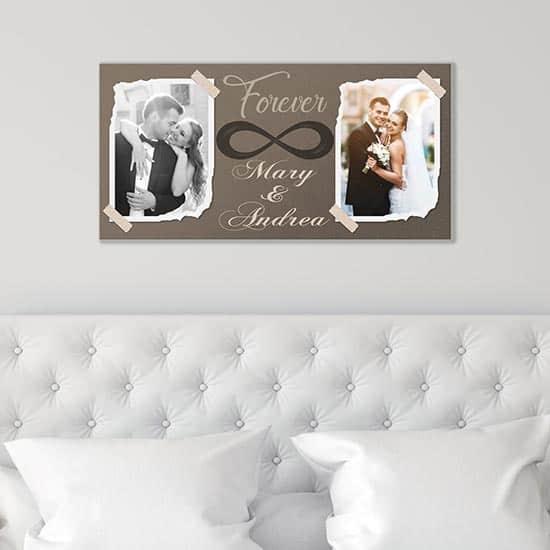 Quadro personalizzato con le vostre foto su tela, arredo da parete
