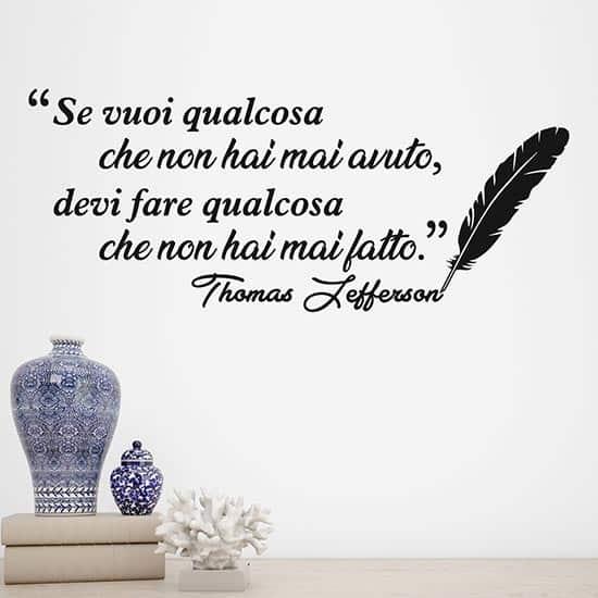 Scritta adesiva di Thomas Jefferson