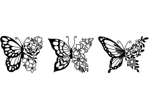 3 farfalle adesive