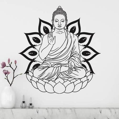 Adesivo da parete Buddha decorazione adesiva