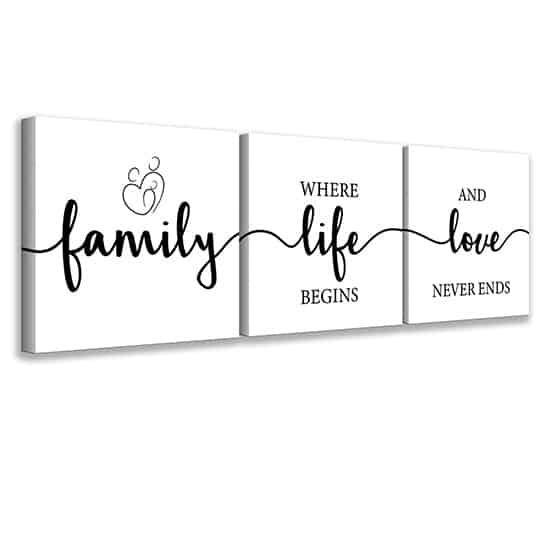 Quadri con frasi sulla famiglia