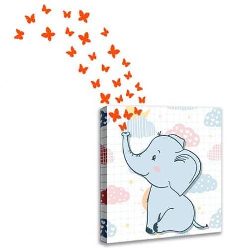 Quadro per bambini con stickers farfalle
