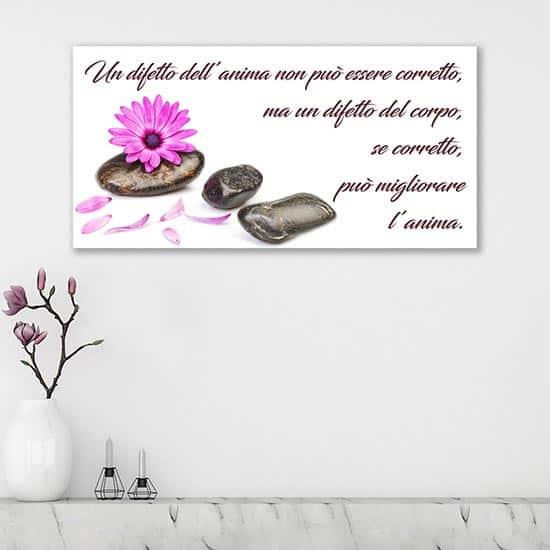 Quadro su tela con frase sulla bellezza, decorazione da parete