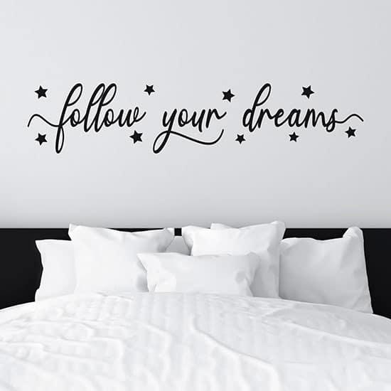 adesivi murali per camera da letto colore nero