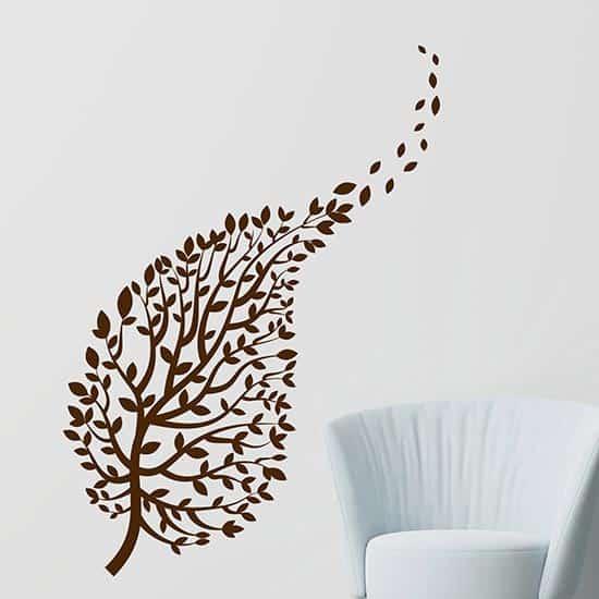 Adesivi murali ramo con foglie