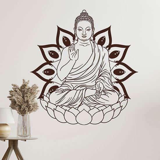 Adesivo da parete Buddha