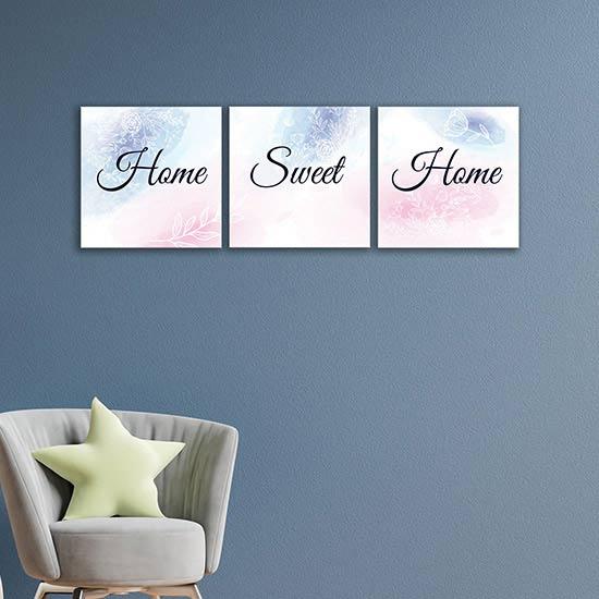 quadretti con scritte home sweet