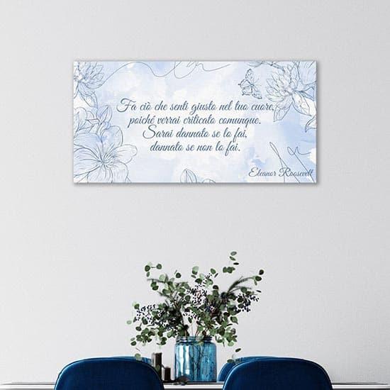 quadro su tela personalizzato con frase decorazione