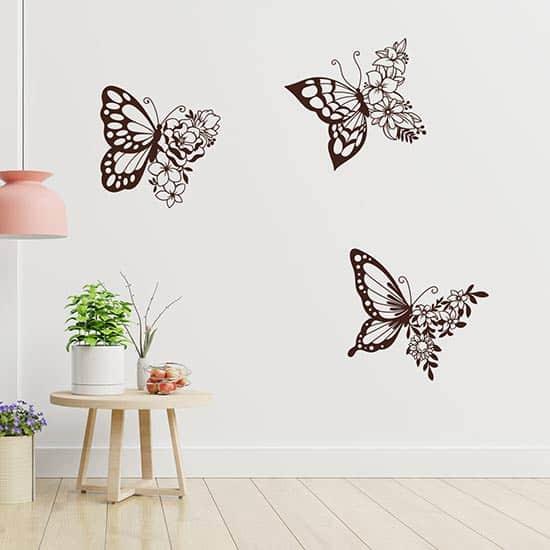 Stickers murali farfalle adesive