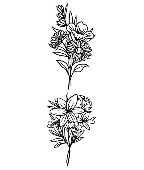 2 mazzi di fiori adesivi