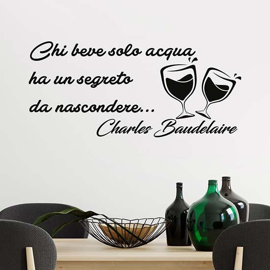 Adesivi murali con citazione di Baudelaire decorazione adesiva