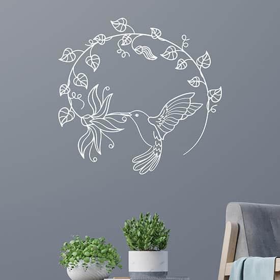 Adesivi murali stilizzati floreali