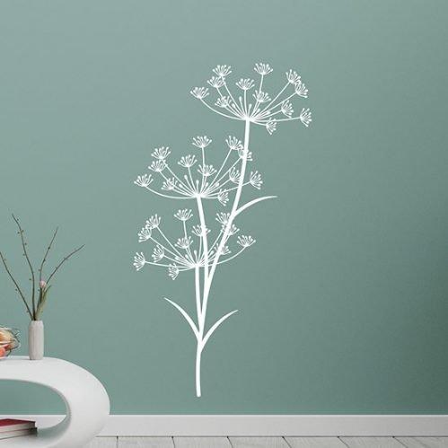 Decorazioni adesive soffioni da parete per arredare