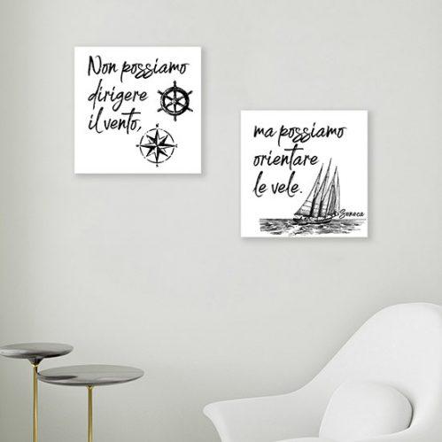 Quadretti con scritte su tela, quadri moderni