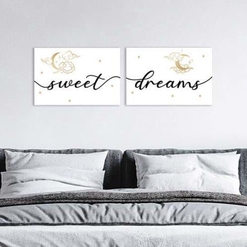 Quadri su tela sweet dreams, decorazioni da parete