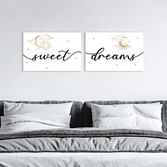 Quadri su tela sweet dreams, decorazioni da parete