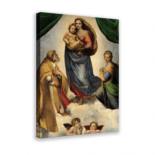 Riproduzione su tela della Madonna Sistina