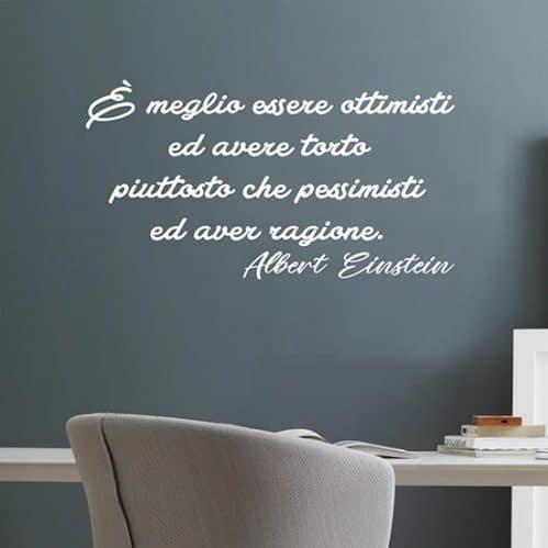 Scritta adesiva di Albert Einstein per muro