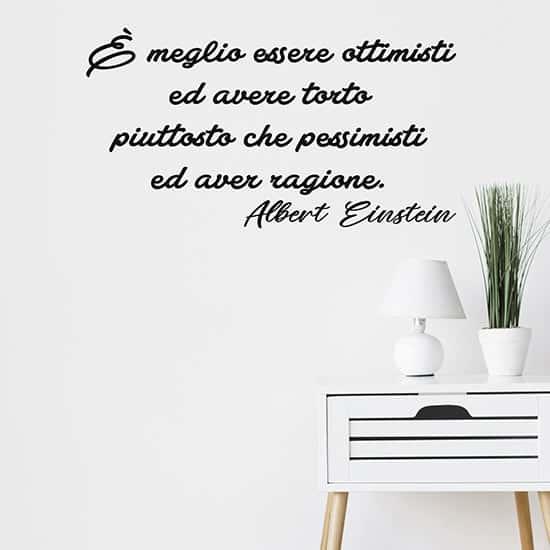 Scritta adesiva di Albert Einstein