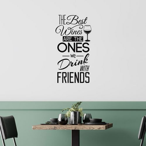 Scritte adesive sul vino