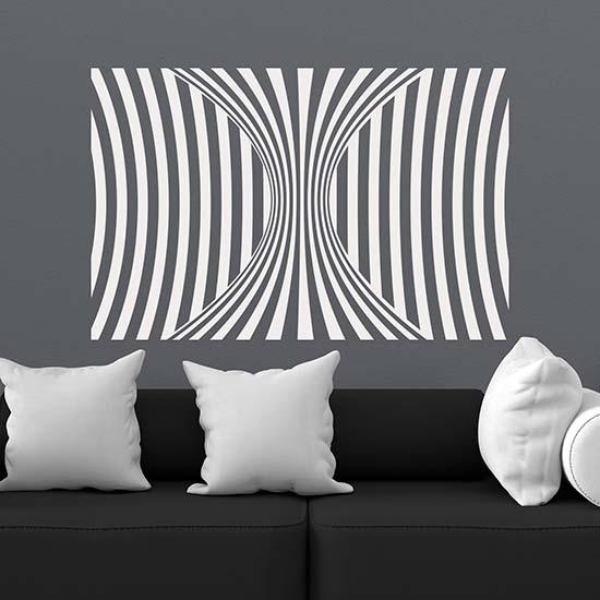adesivi da parete illusione ottica