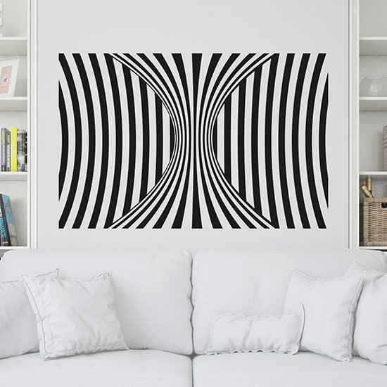 adesivi murali illusione ottica