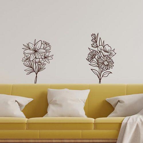Adesivi per pareti con fiori