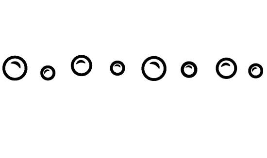 Disposizione delle bolle stickers