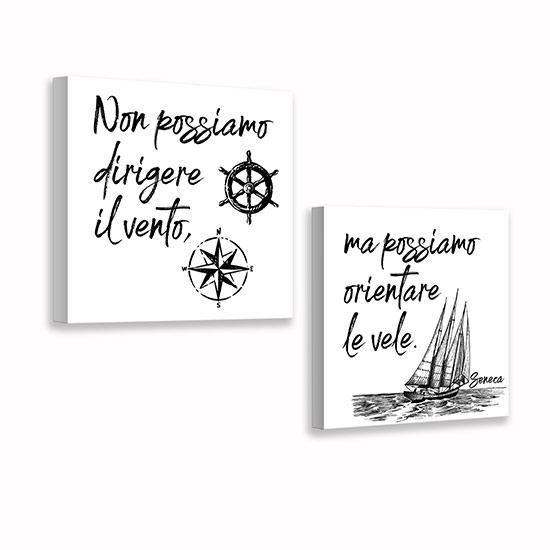 Quadretti con scritte su tela