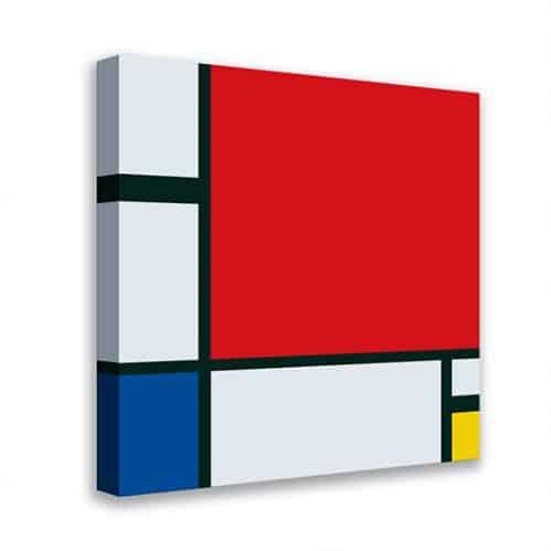 Quadro astratto riproduzione di Mondrian