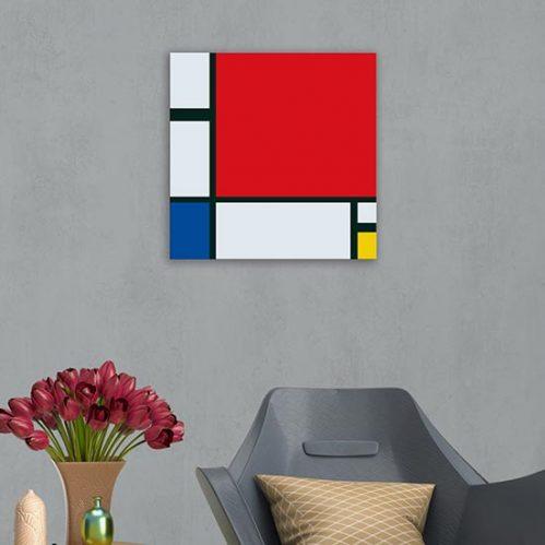 quadro su tela riproduzione di Mondrian