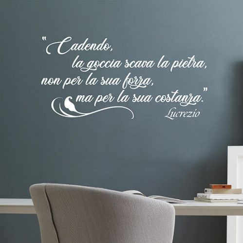Scritta adesiva motivazionale da muro