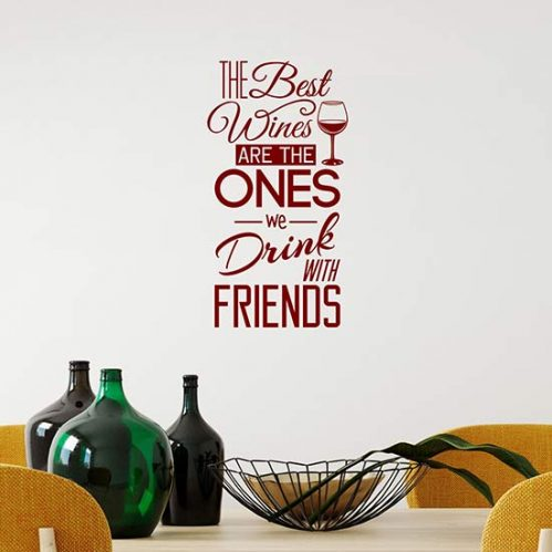 Scritte adesive per cucina sul vino
