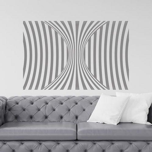 stickers murali illusione ottica