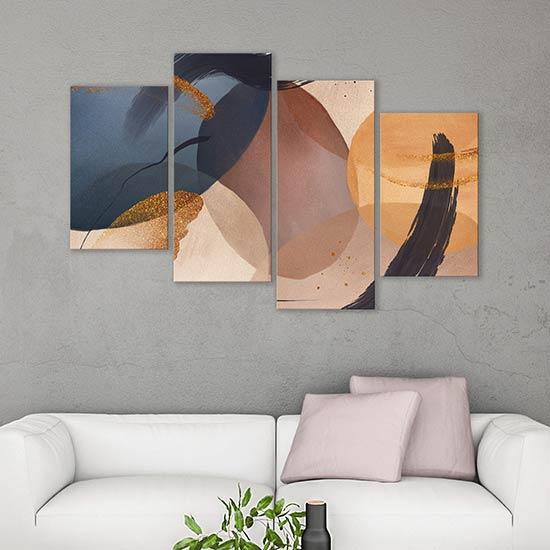 tele astratte moderne 4 quadri