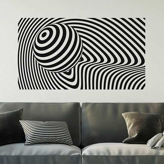 Adesivi da parete illusione ottica decorazione moderna
