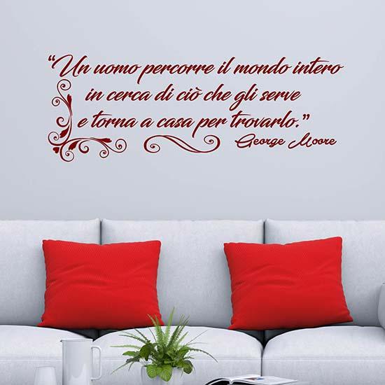 Frase adesiva di George Moore adesivi murali