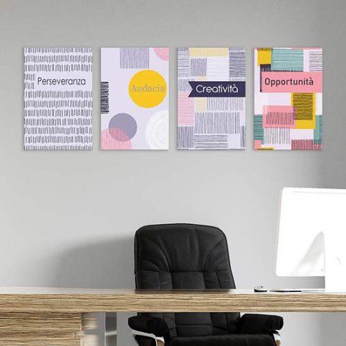 Quadri astratti colorati per ufficio