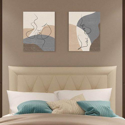 Quadri astratti per camera da letto stampe su tela