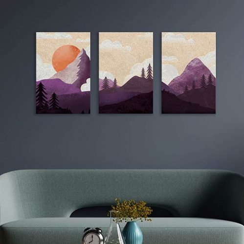 Quadri con paesaggi dipinti su tela canvas