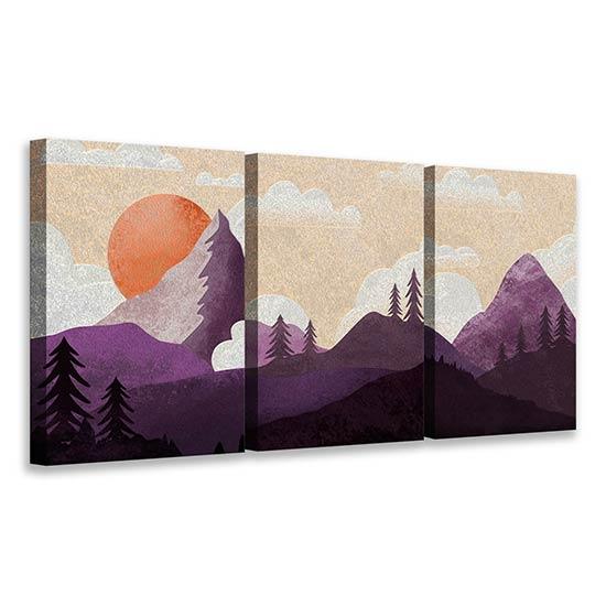 Quadri con paesaggi dipinti su tela