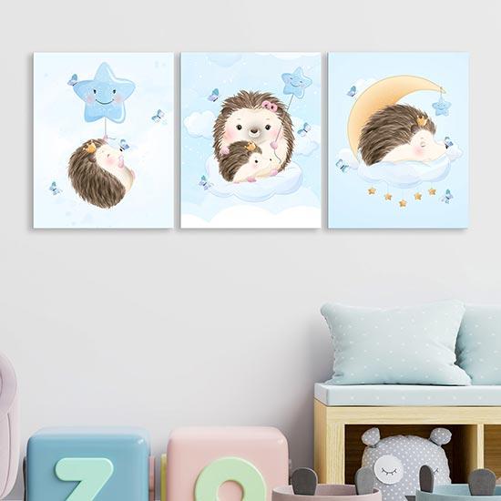 Quadri su tela per bambini, 3 quadri moderni