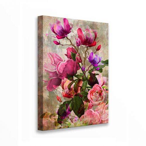 Quadro con fiori su tela