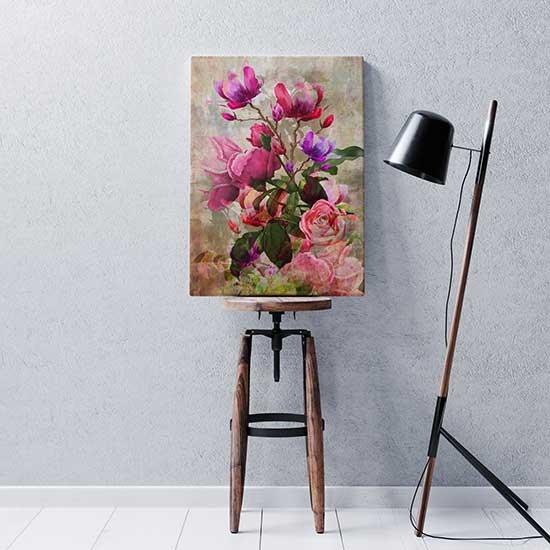 Quadro con fiori su tela stampa artistica
