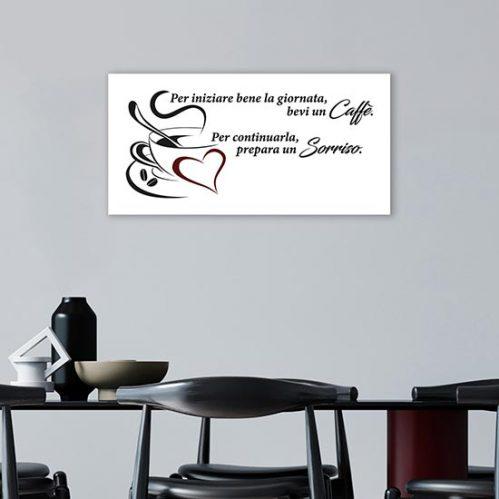 quadro con scritta caffè per bar